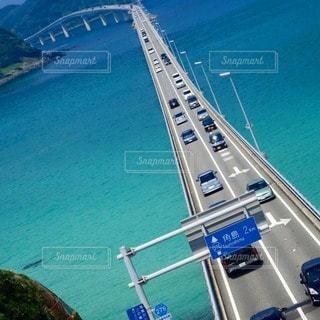 夏旅 絶景スポット 角島大橋の写真・画像素材[79350]