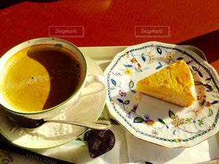 チーズケーキ&珈琲の写真・画像素材[2102578]