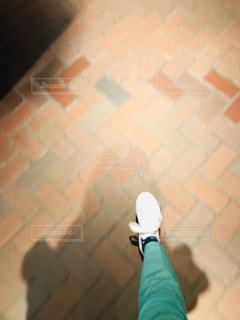 レンガ造りの建物のクローズアップの写真・画像素材[3072576]