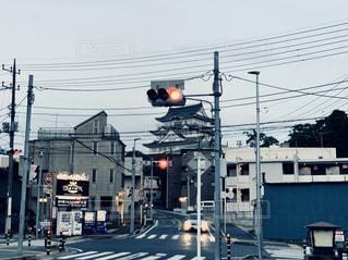 市街地の信号機の写真・画像素材[2266482]