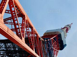 橋の上を飛ぶクレーンの写真・画像素材[2278824]