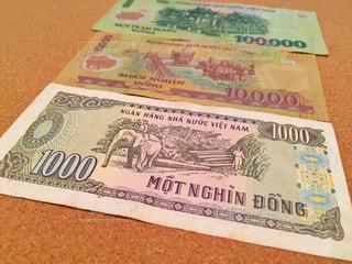 ベトナムドン紙幣の裏側の写真・画像素材[2374419]
