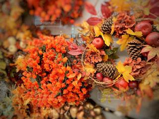 秋のリースの写真・画像素材[2422064]