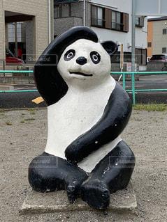 公園のパンダ(黒)の写真・画像素材[2109530]
