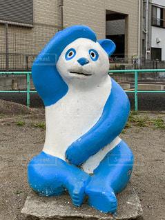 公園のパンダ(水色)の写真・画像素材[2109532]