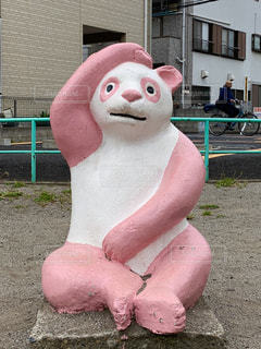 公園のパンダ(ピンク)の写真・画像素材[2109533]
