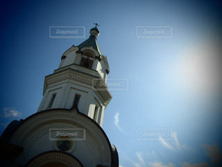 青空と教会の写真・画像素材[2099433]