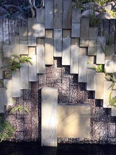 石造りの壁の写真・画像素材[2100056]