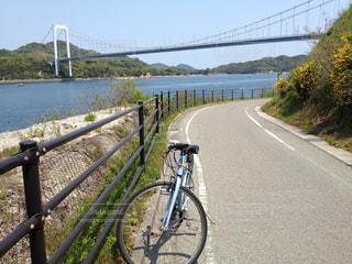 自転車でしまなみ海道の写真・画像素材[2115514]
