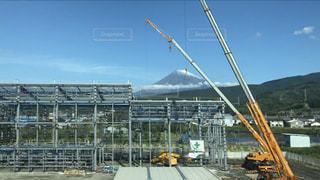 富士山付近の建設現場の写真・画像素材[2652530]