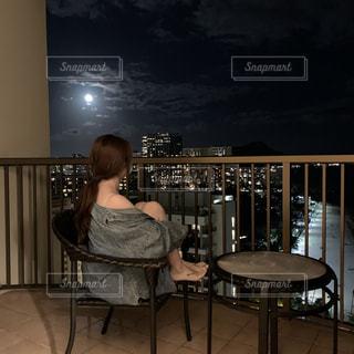 満月の夜の写真・画像素材[2651468]