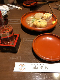 加賀おでんと日本酒の写真・画像素材[2106682]