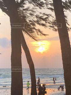 ホワイトビーチの夕日の写真・画像素材[2362145]