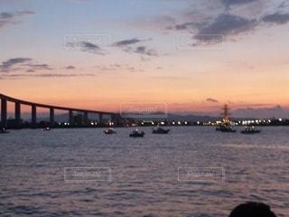 富山湾の夕暮れの写真・画像素材[2108787]
