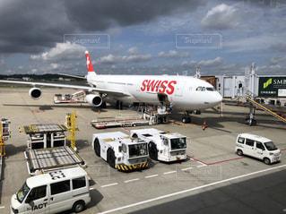 スイスの飛行機の写真・画像素材[2120613]