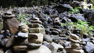 岩のクローズアップの写真・画像素材[2110460]