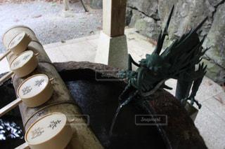 手水舎の龍の写真・画像素材[2139321]