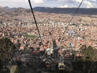 ラパスのテレフェリコからの眺めの写真・画像素材[2118046]