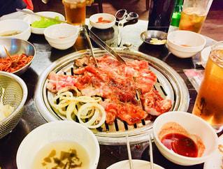 本格韓国料理屋での食事の写真・画像素材[2119660]