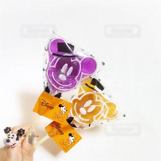 ハロウィンとディズニーコラボのミッキーぺろぺろキャンディーの写真・画像素材[1510069]