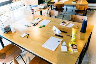 作業中のテーブルの写真・画像素材[2294833]