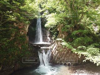 陽光の中の滝の写真・画像素材[2165012]