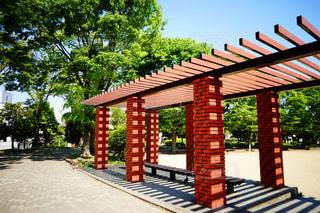 公園のベンチの写真・画像素材[2123647]