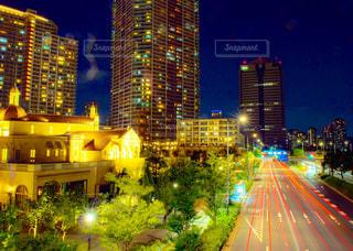 夜の都市の写真・画像素材[2361498]