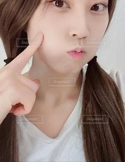 女性のクローズアップの写真・画像素材[2467268]