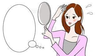 悩む女性のイラストの写真・画像素材[2773951]