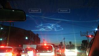ロケット雲の写真・画像素材[2132165]