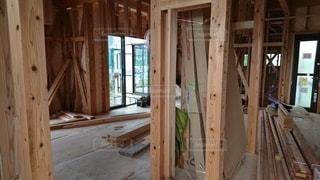 新築の建設現場の写真・画像素材[2411331]
