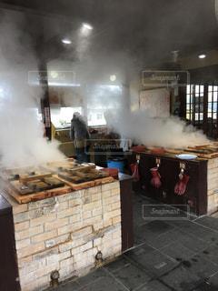 地獄蒸し料理の写真・画像素材[2131951]