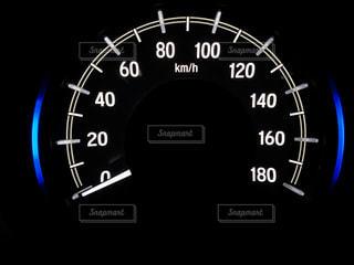 車のスピードメーターの写真・画像素材[2897601]