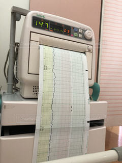 赤ちゃんの心拍 胎動チェックの写真・画像素材[2130788]