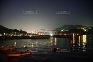 音戸大橋の夜景の写真・画像素材[119409]