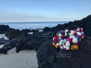 ハワイ島の溶岩とレイ - No.1175172