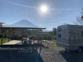 富士山が真正面に!の写真・画像素材[3782804]