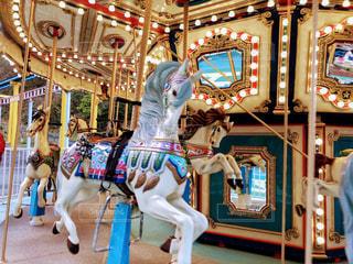 メリーゴーランドのお馬さんの写真・画像素材[2919735]