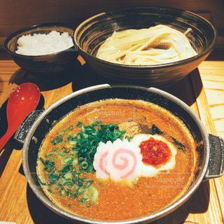 つけ麺とご飯の写真・画像素材[2139179]