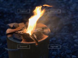 火のクローズアップの写真・画像素材[2950868]