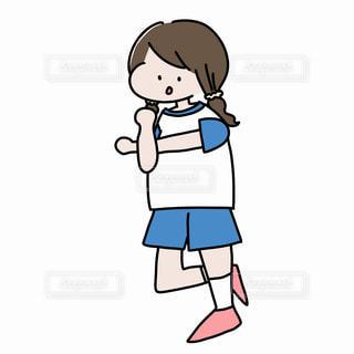 準備体操をする女の子の写真・画像素材[2249320]
