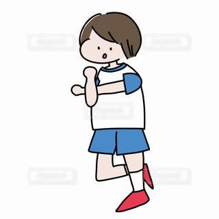 準備体操をする男の子の写真・画像素材[2249321]
