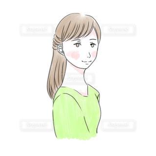 女性の顔のクローズアップの写真・画像素材[2998947]