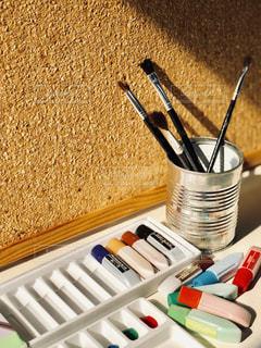 絵を描く道具の写真・画像素材[2235803]