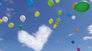 ハート雲の写真・画像素材[2497557]