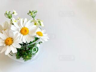 テーブルの上に花瓶の写真・画像素材[2912570]