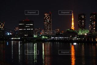 東京タワー 勝鬨橋よりの写真・画像素材[2399591]