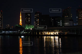 東京タワー 勝鬨橋よりの写真・画像素材[2399595]