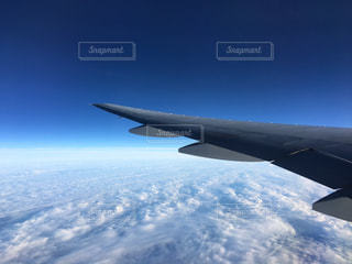 飛行機からの青空の写真・画像素材[3278757]
